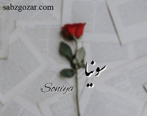 پروفایل و عکس پروفایل اسم سونیا