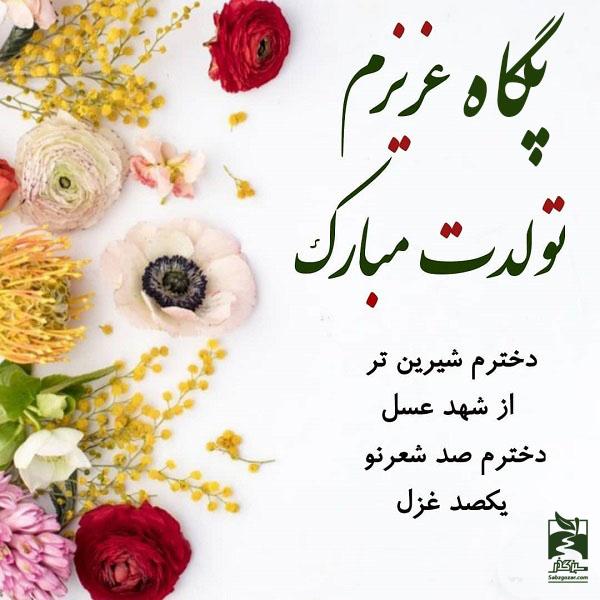 عکس نوشته پگاه عزیزم تولدت مبارک